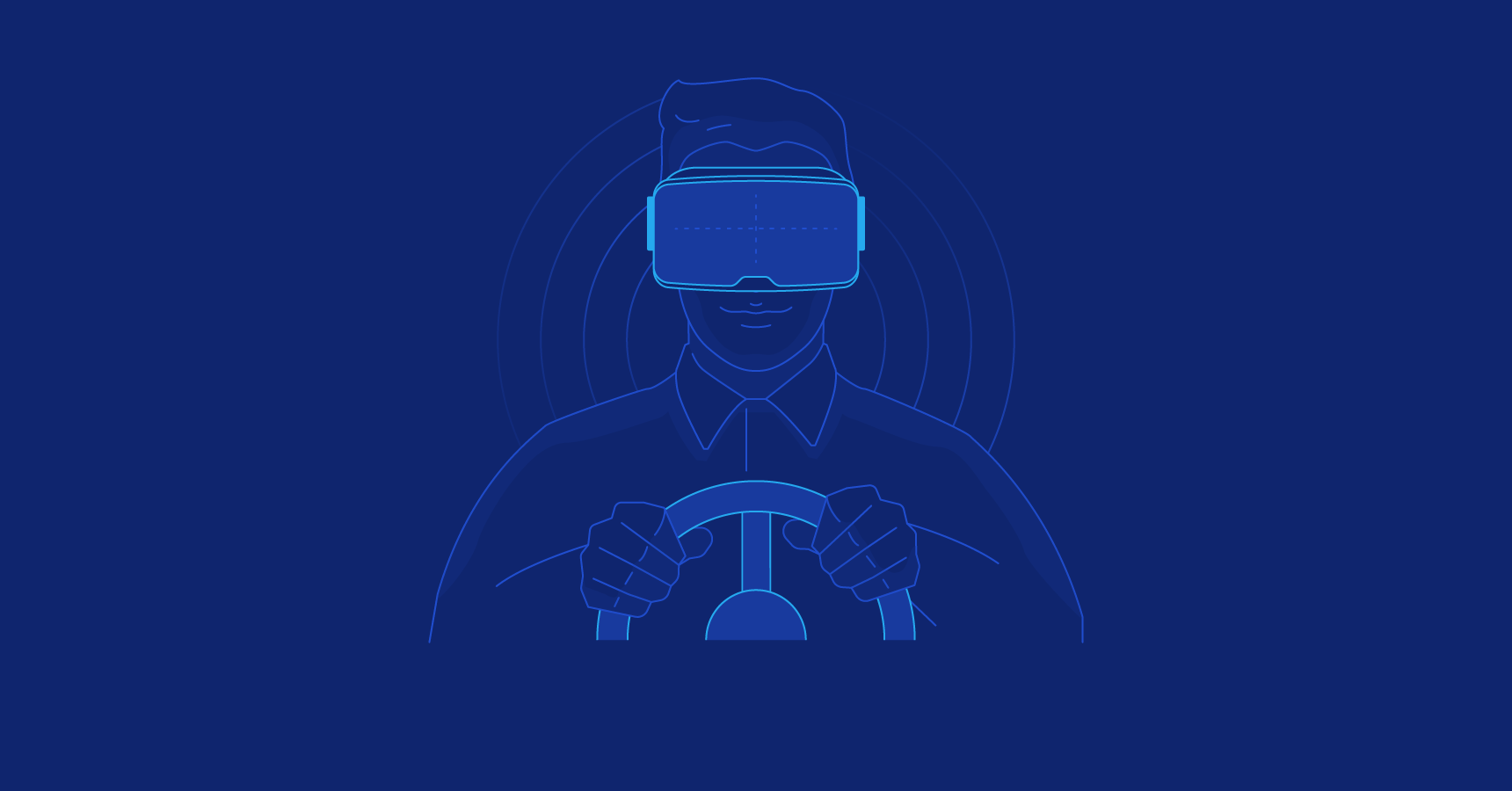 Virtual Reality in Automotive Industry Driver Illustration
