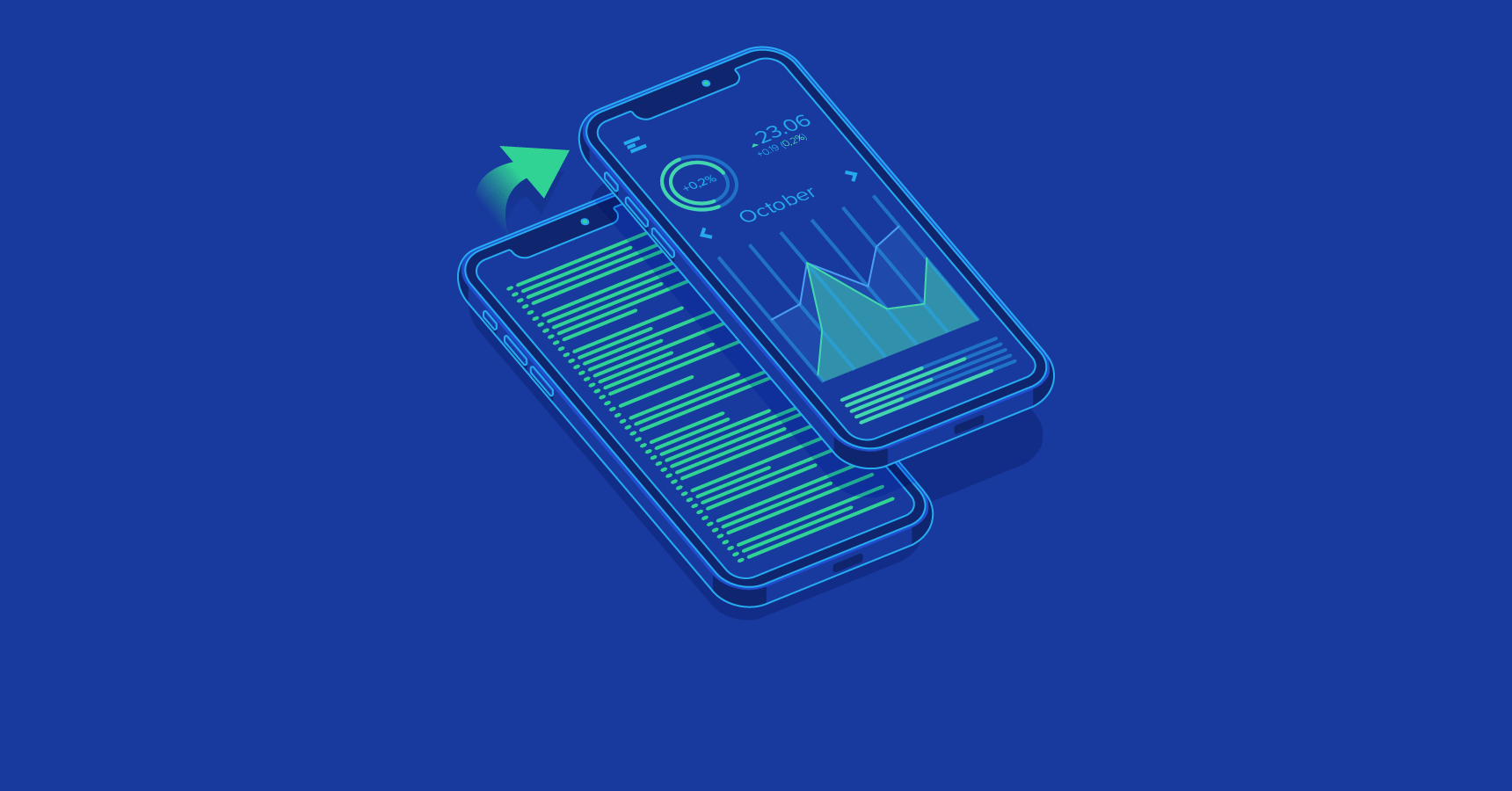Cover illustration: Code and iPhone UI