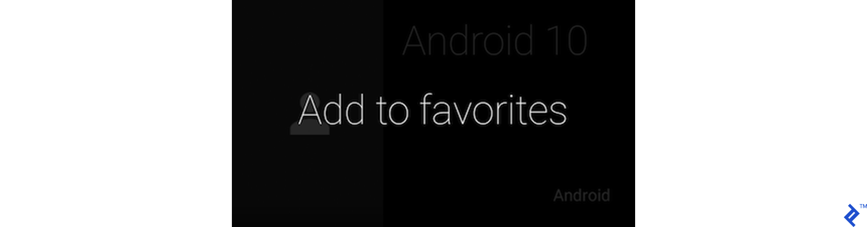 "Tapping the Google Glass screen brings up ""Add to favorites."""
