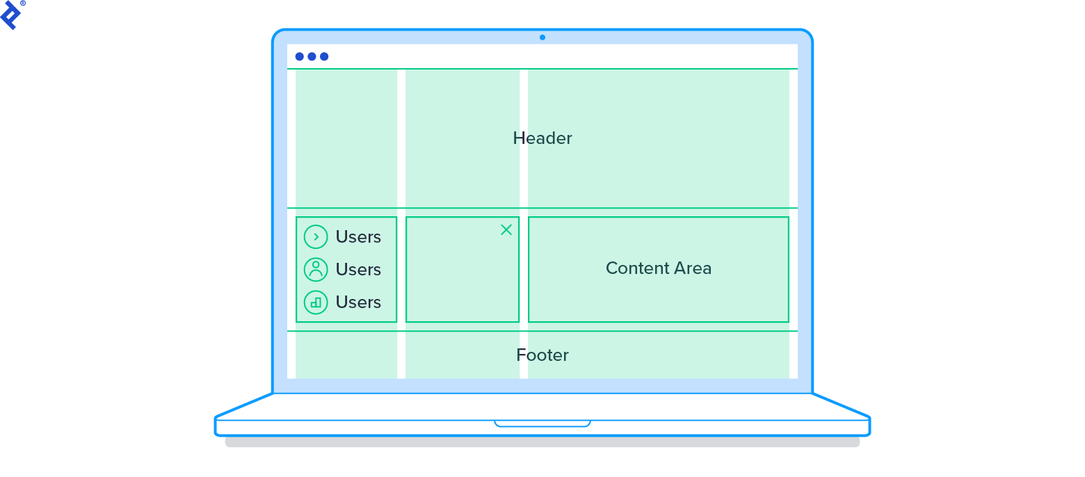 CSS grid layout sketch