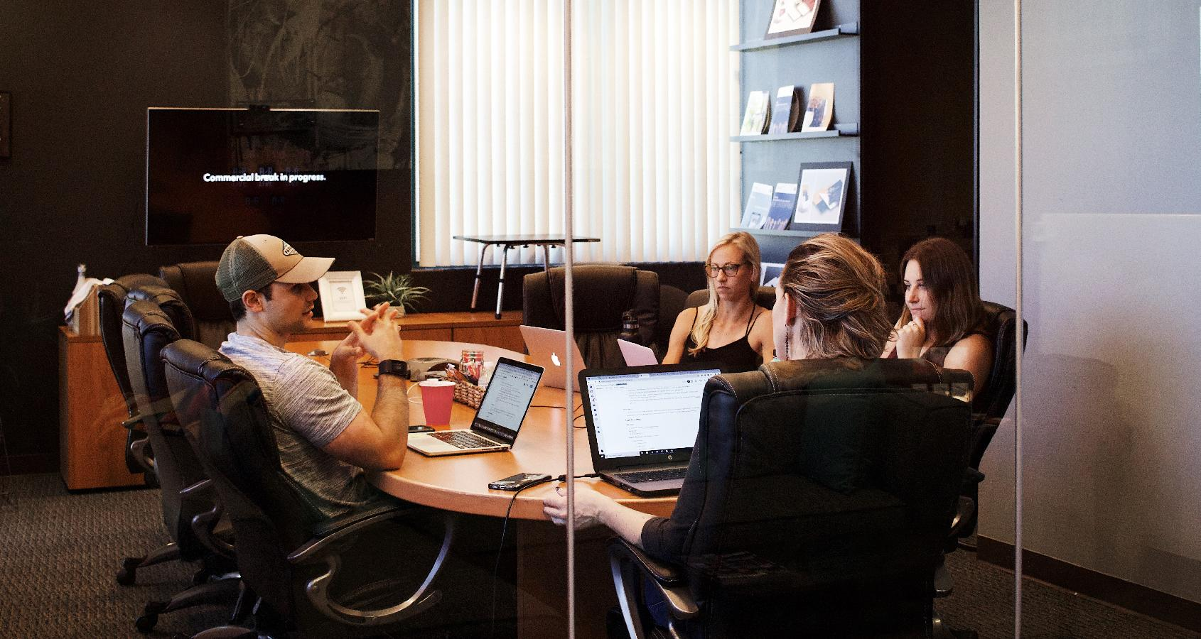 "An enterprise navigation team brainstorms about ""blue sky"" ideas."