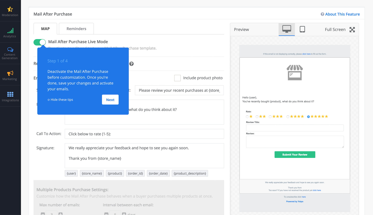 Onboarding examples: Tooltips are a good pattern to implement