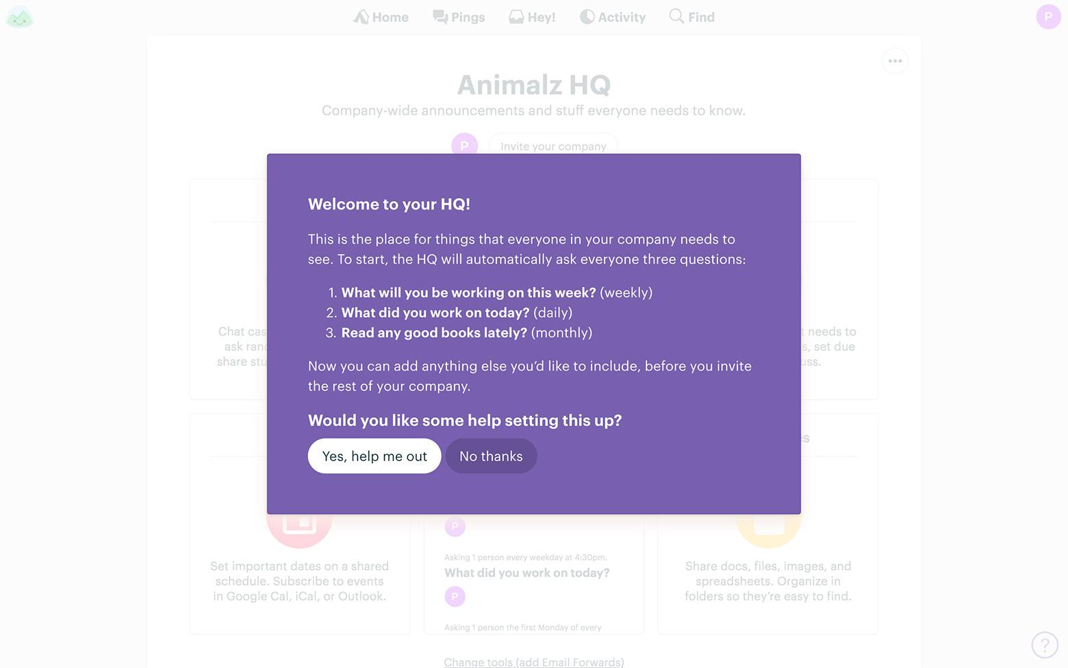 Onboarding examples: Basecamp improves their onboarding continuously
