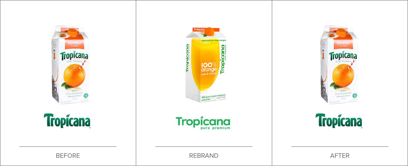 Tropicana's brand design strategy ignored brand recognition.