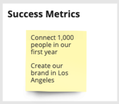 Technology Product Canvas success metrics