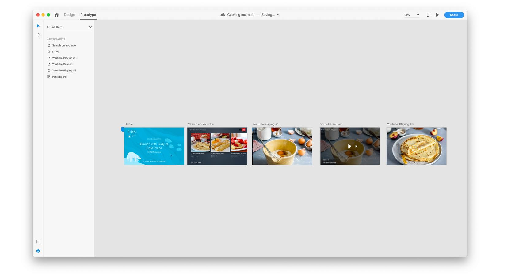 Adobe XD tutorial on how to prototype multimodal design