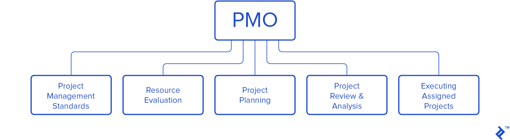 Chart of PMO responsibilities.