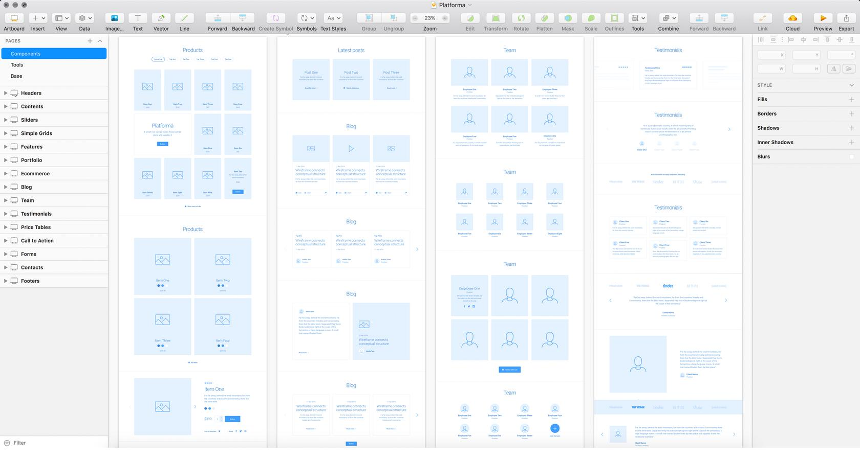 Sketch provides UX wireframe and UI wireframe capabilities as well as prototyping.