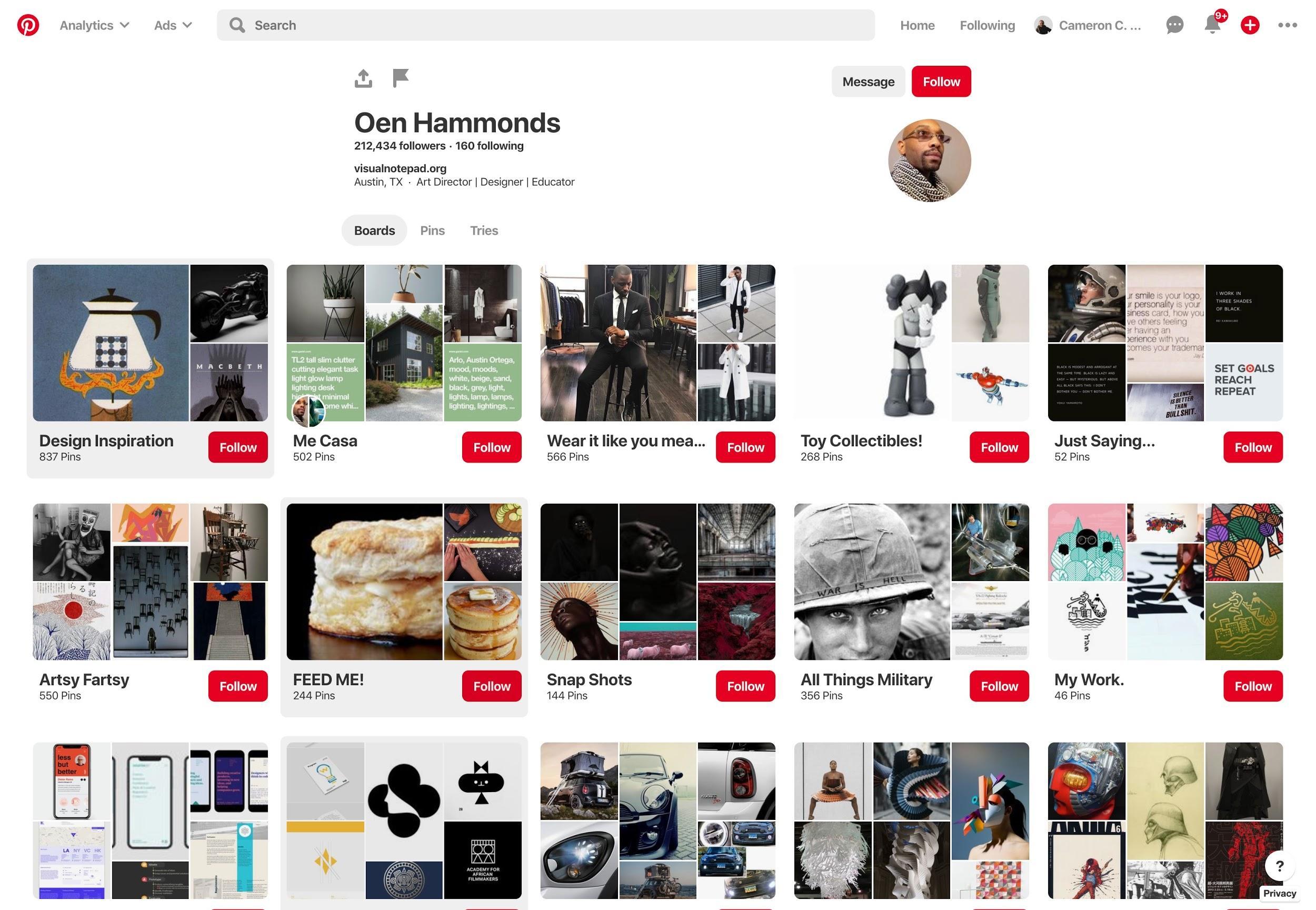 Pinterest for designers.