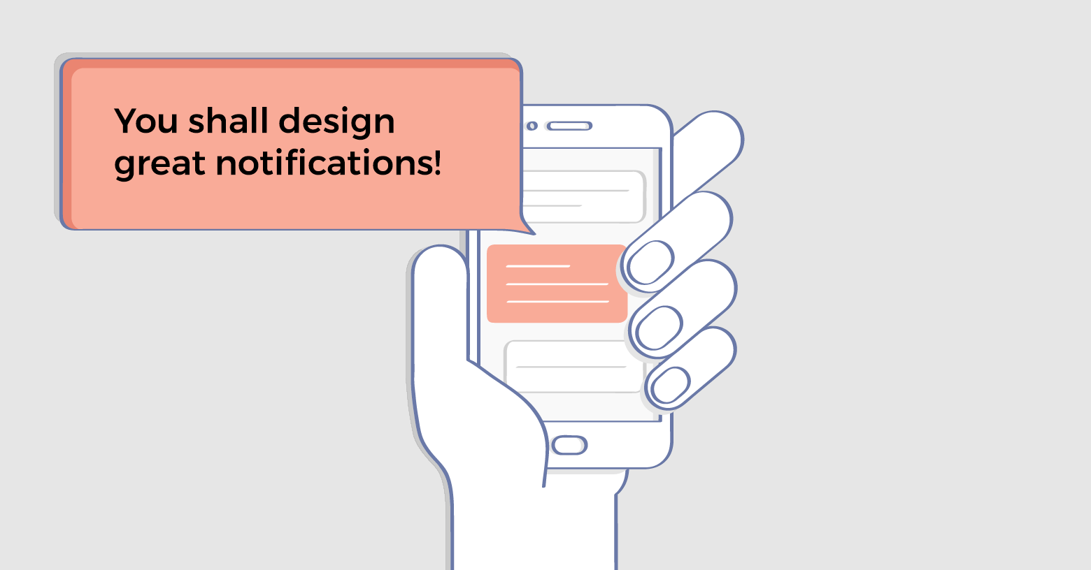 Notification design for better UX