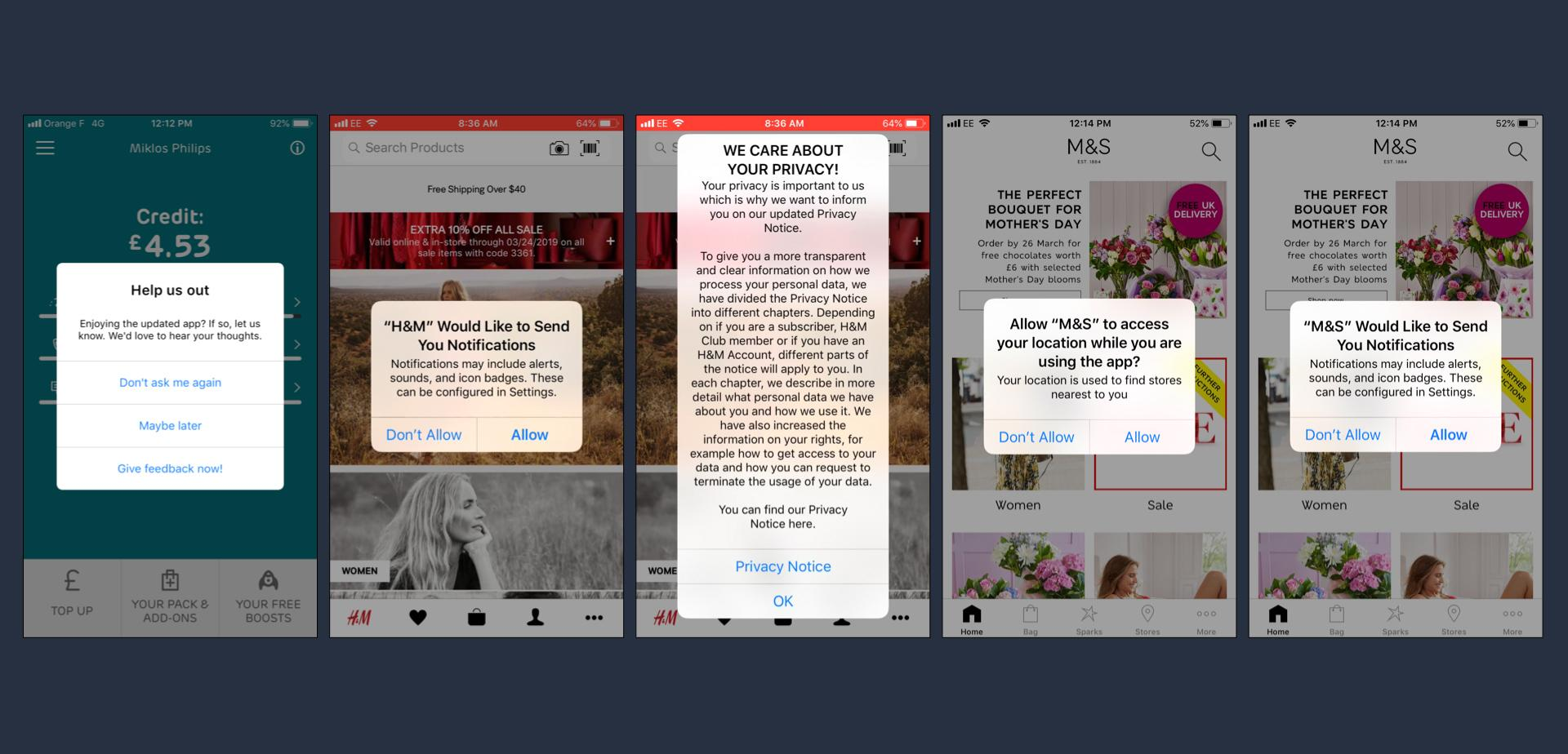 Notification app design