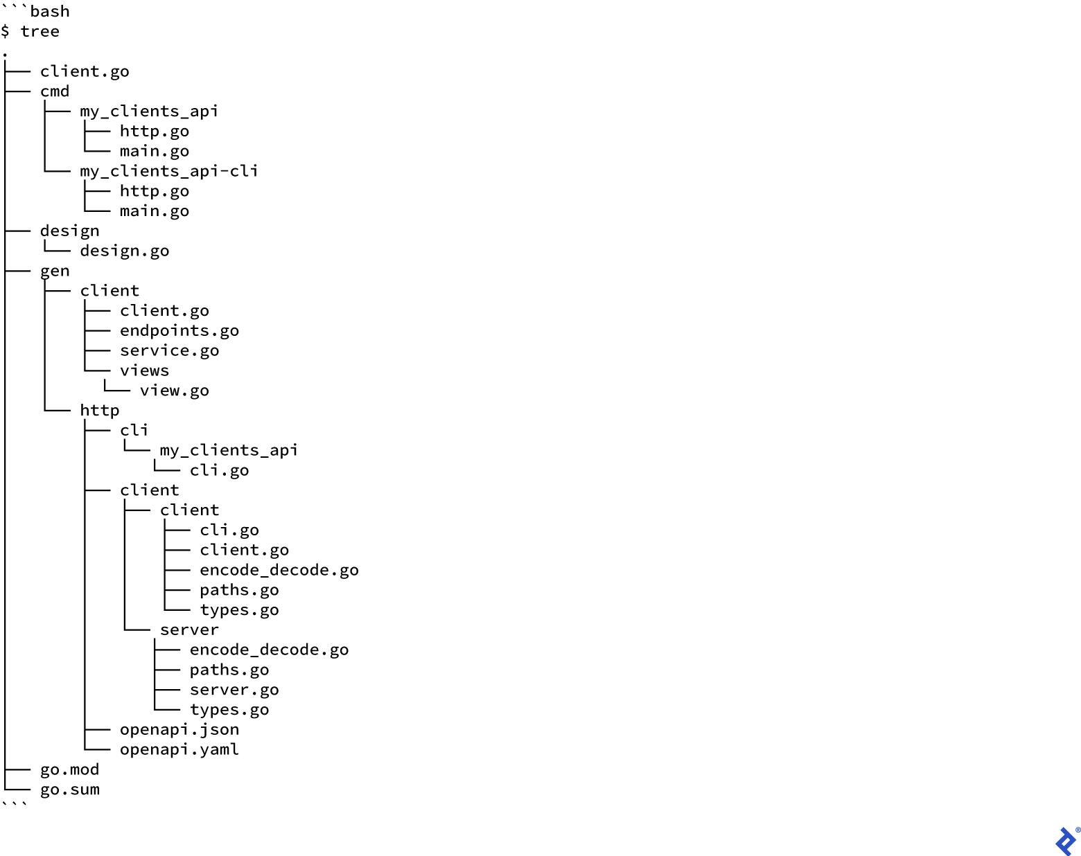 API Development in Go: cmd folder