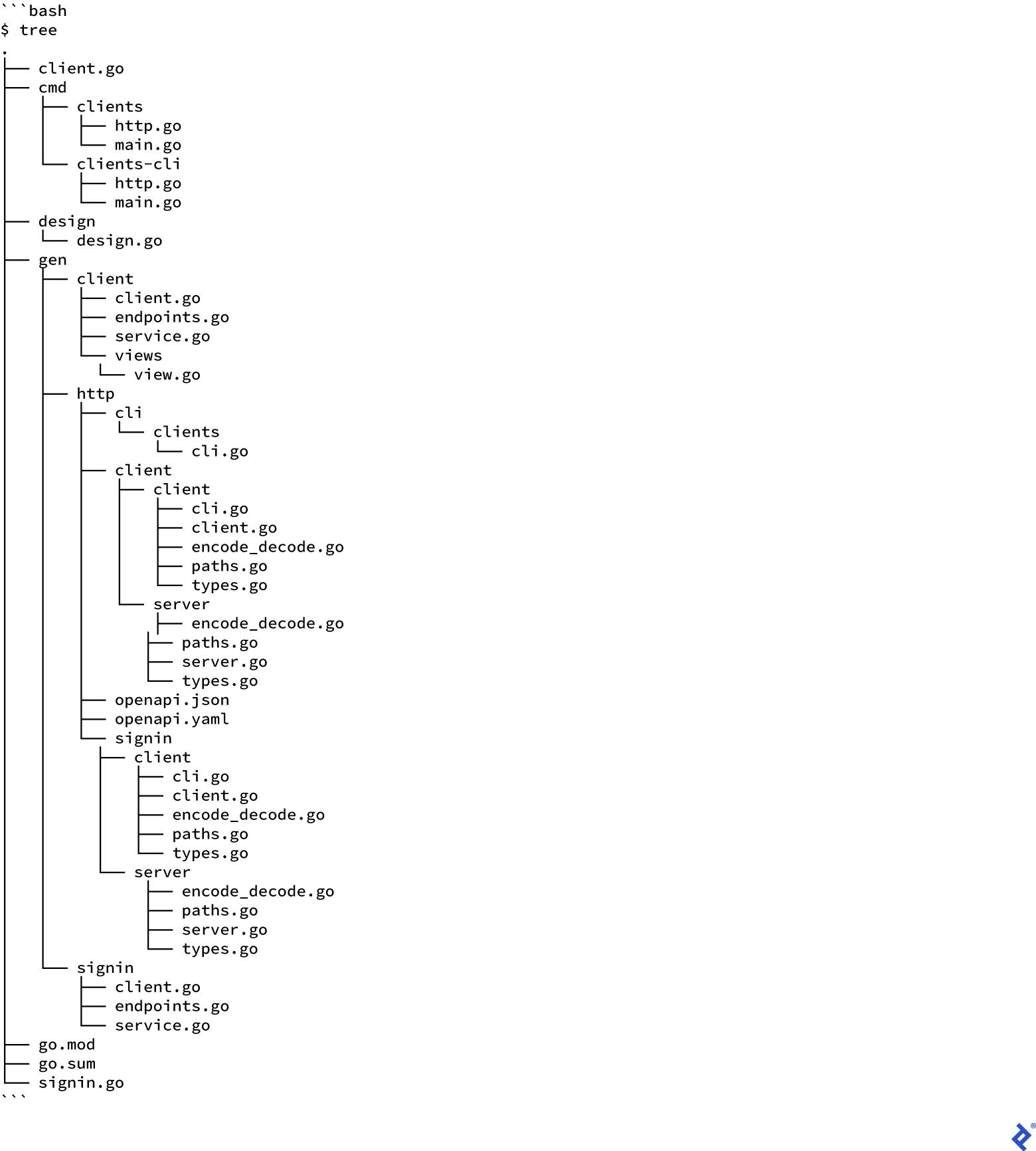 API Development in Go: regenerate