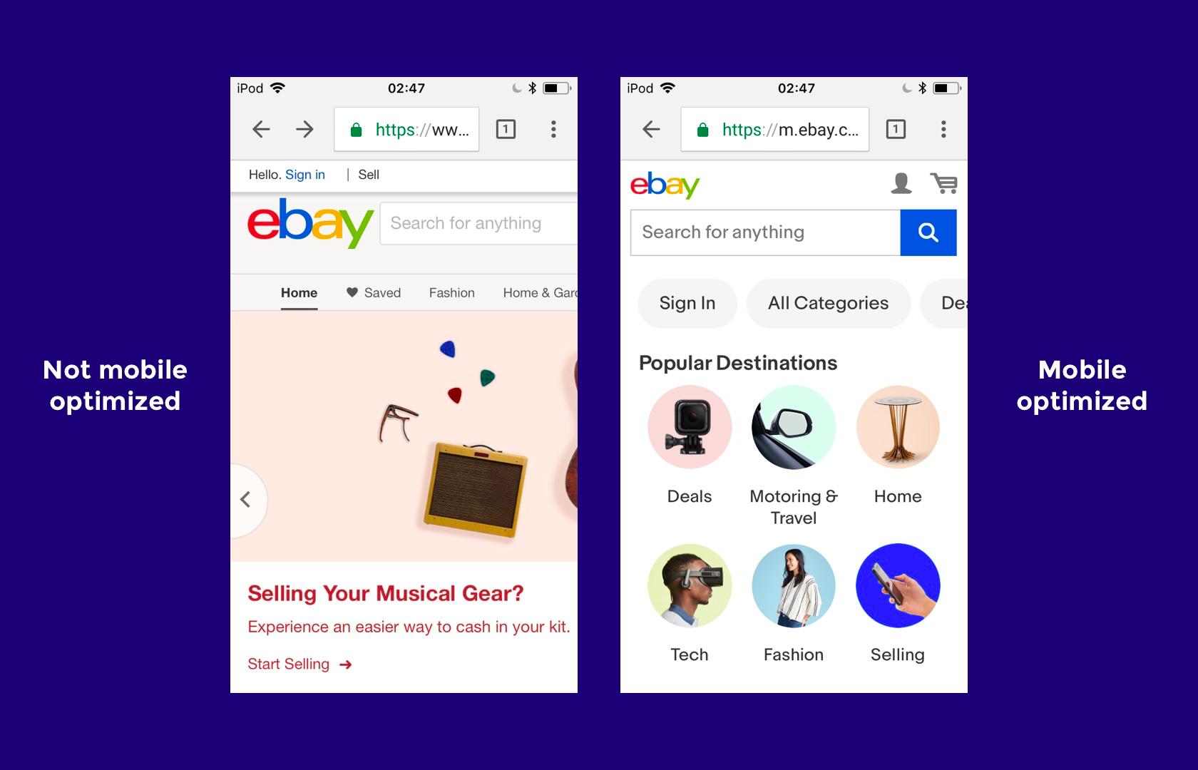 ebay: a responsive web design example