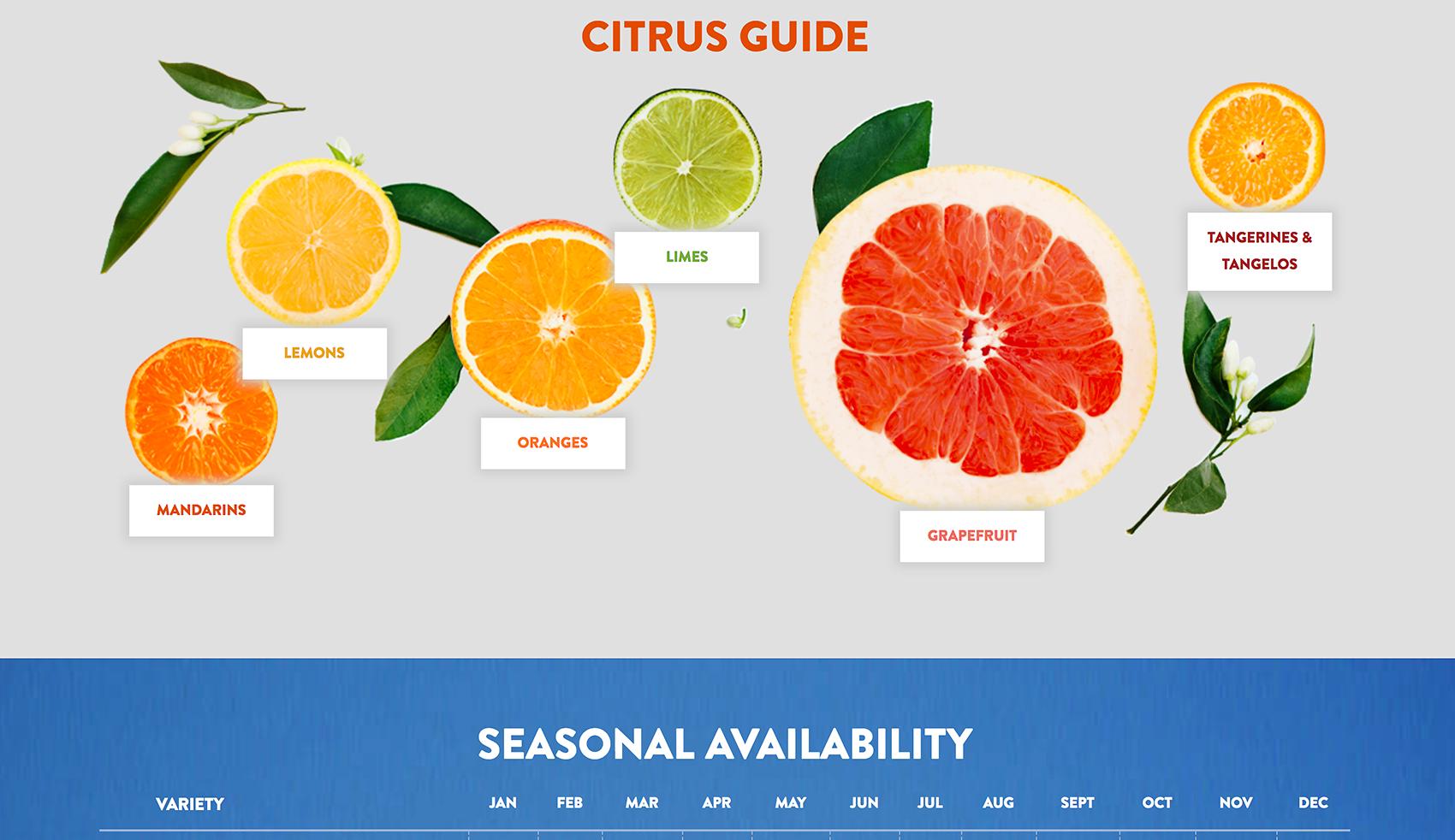 Sunkist employes many sensory images on their website.