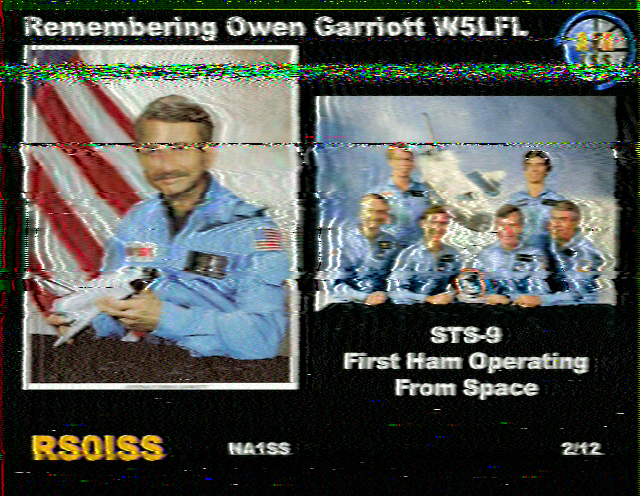 ARISS Photo Tribute to Owen Garriot as received in Pakistan