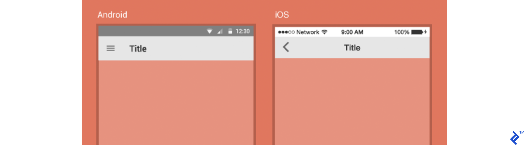 iOS and Android status bars and headers