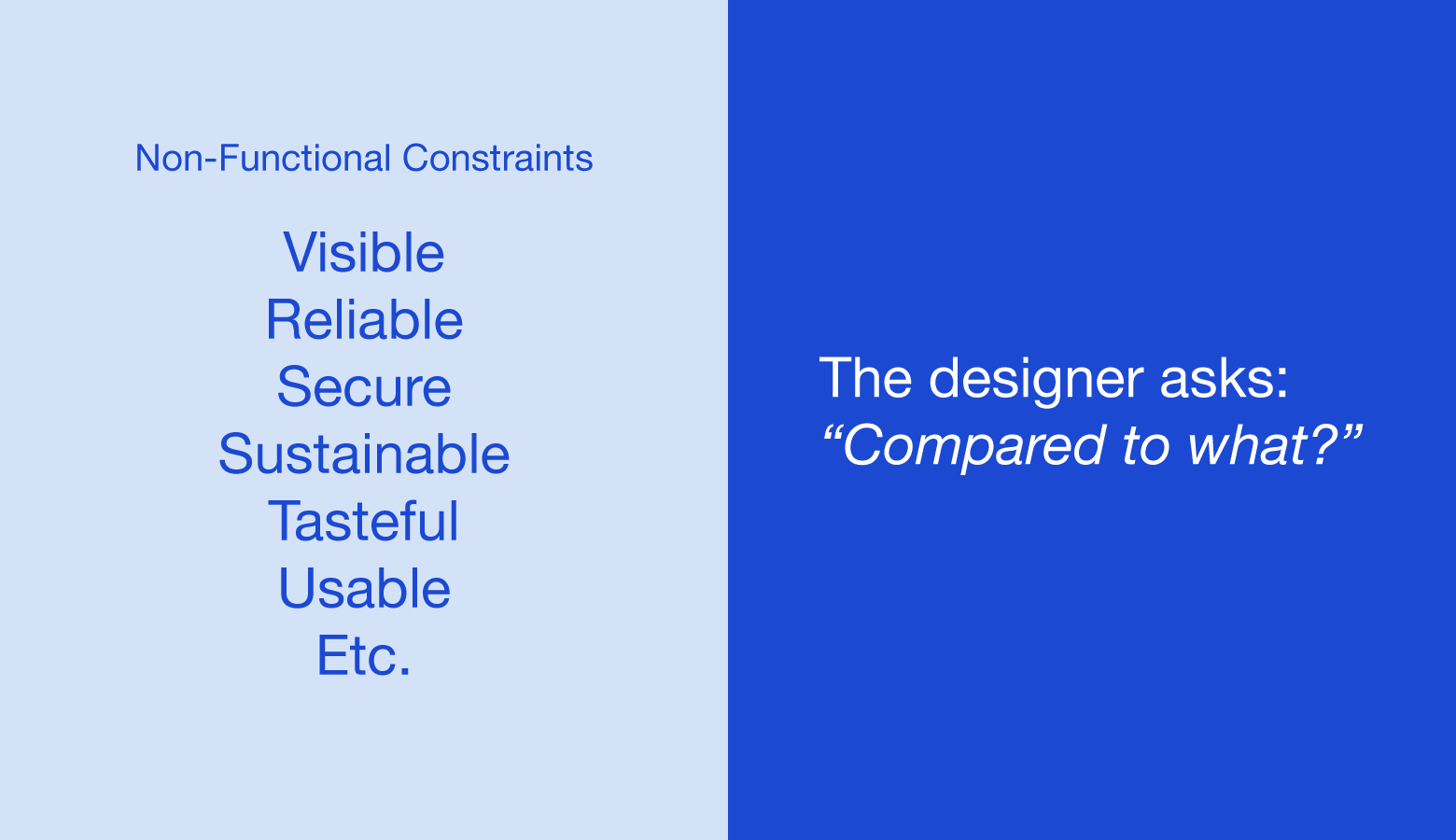 Define design constraints
