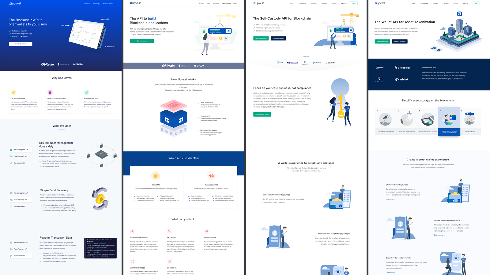 Landing pages in Webflow design using Webflow CMS