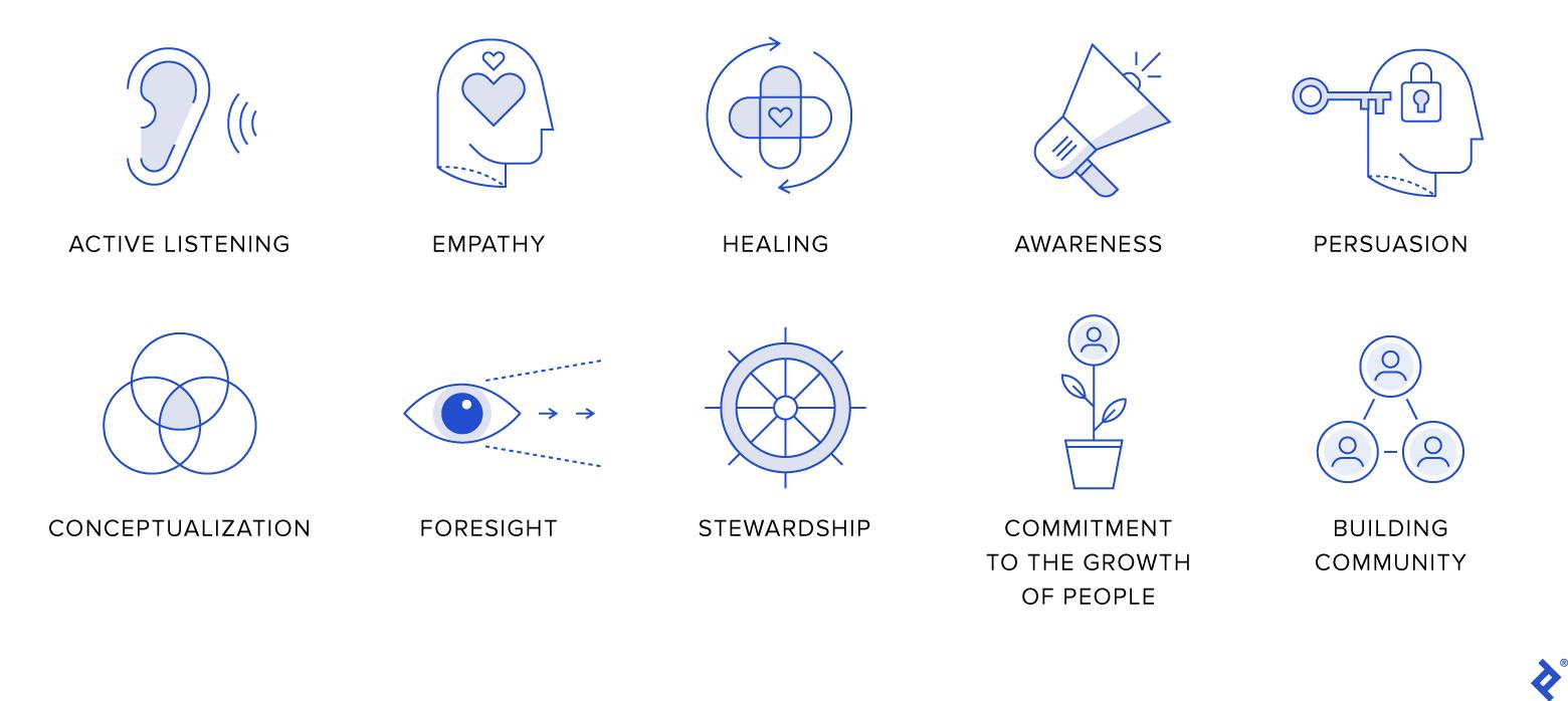 10 characteristics of a servant leader