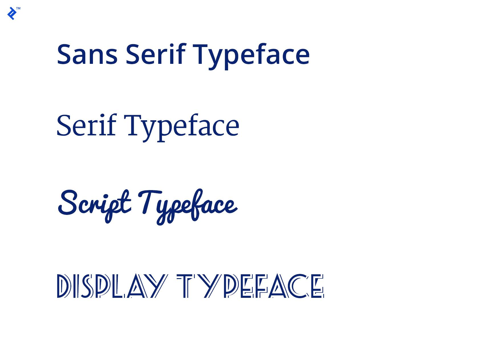 Fonts that go together often come from different classifications.