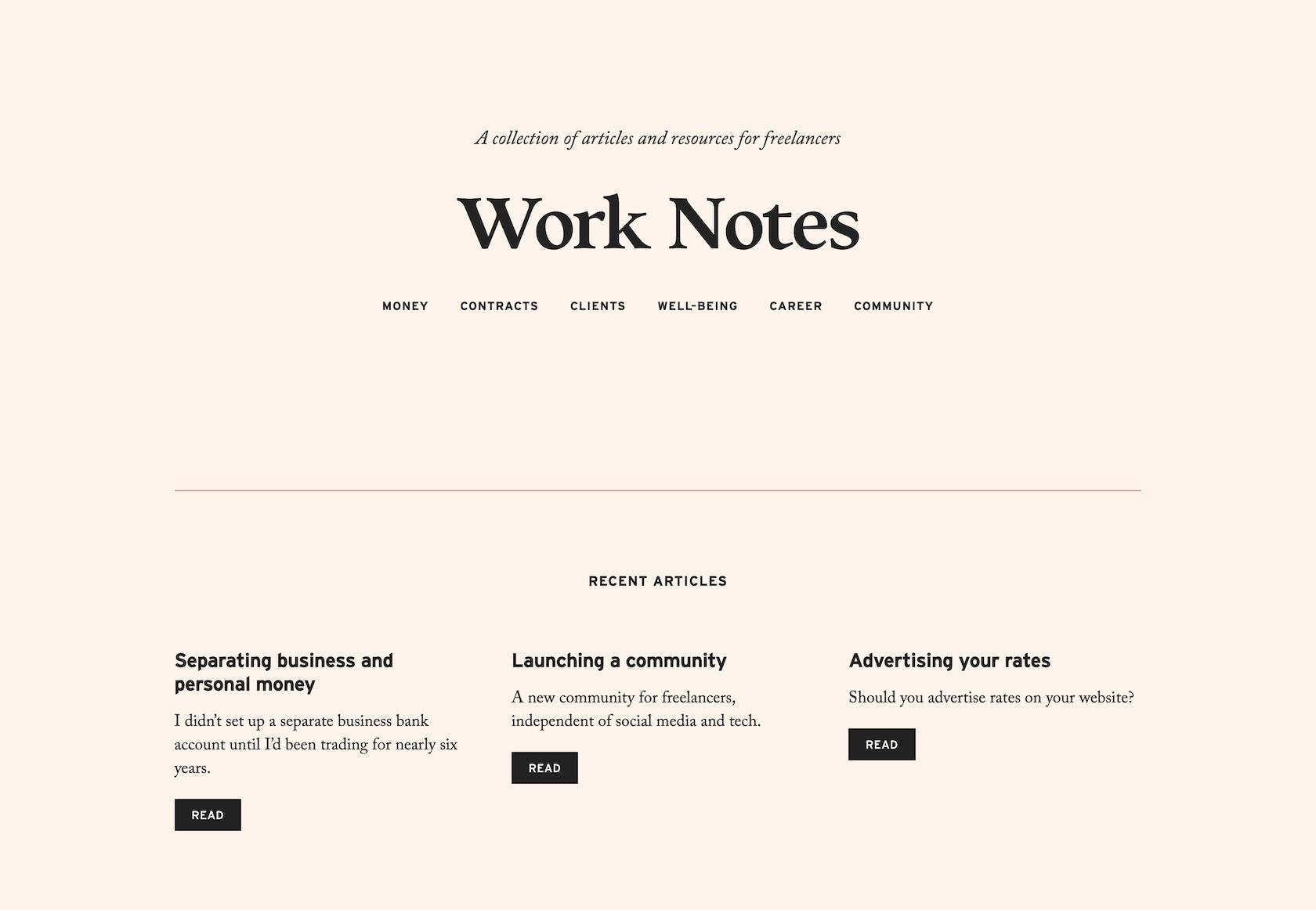 Good fonts: Work Notes