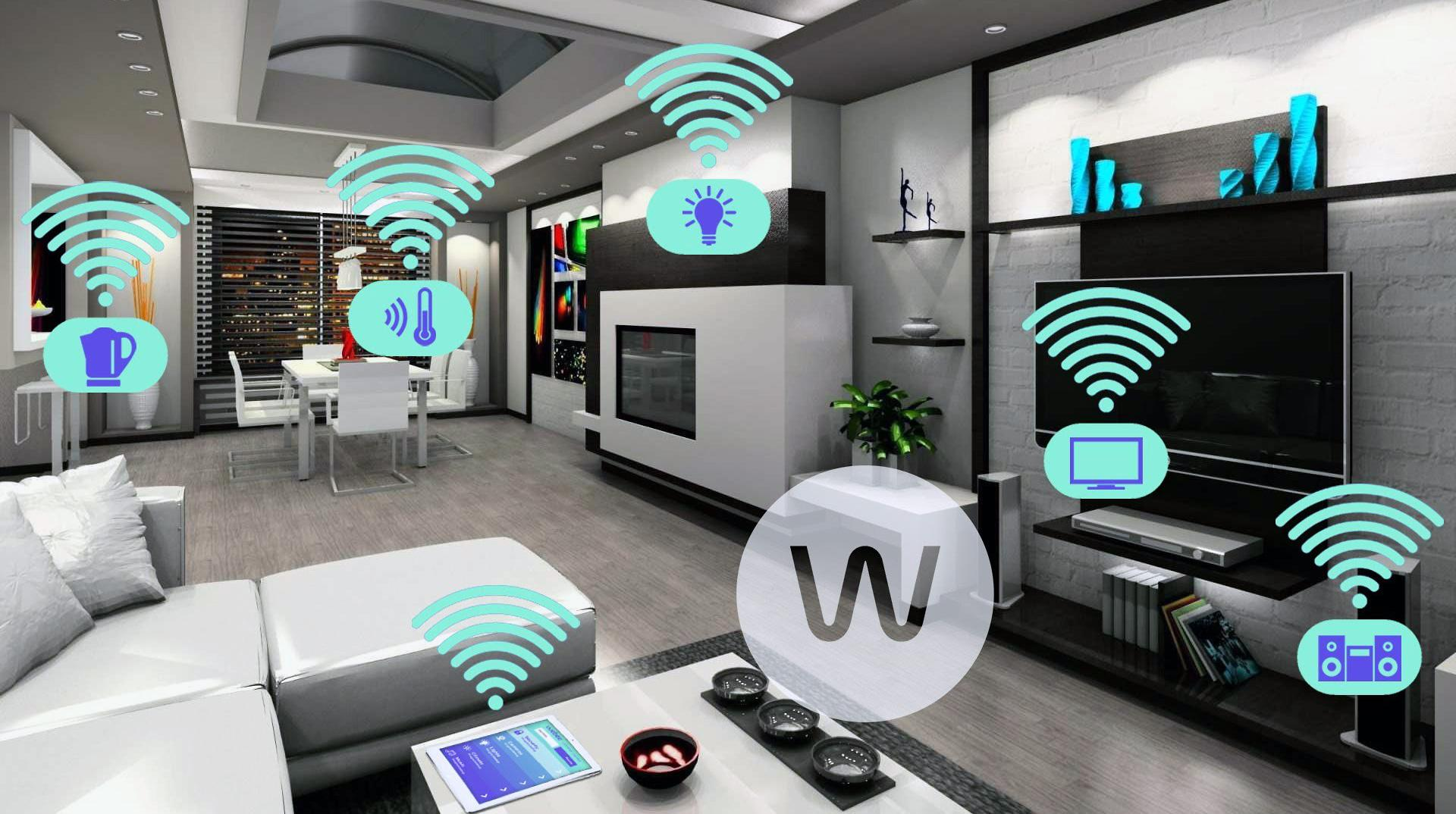 Example of an IoT home.