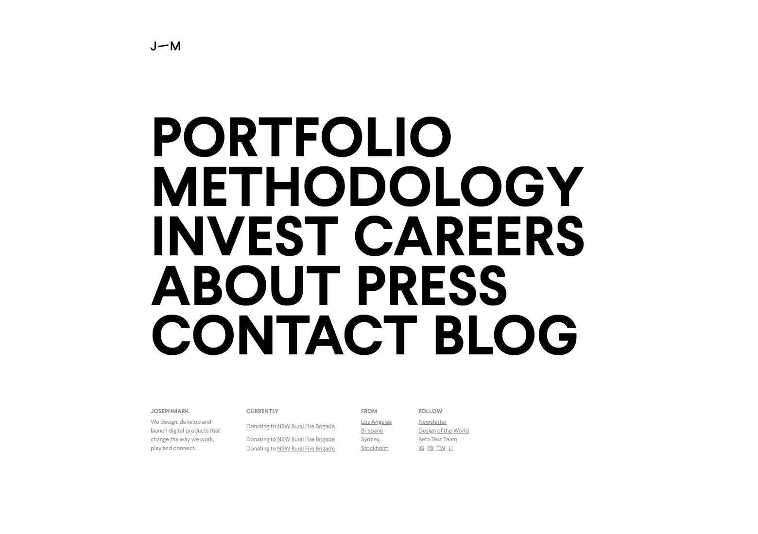 Website best practices: big typography is eye-catching and easy to read