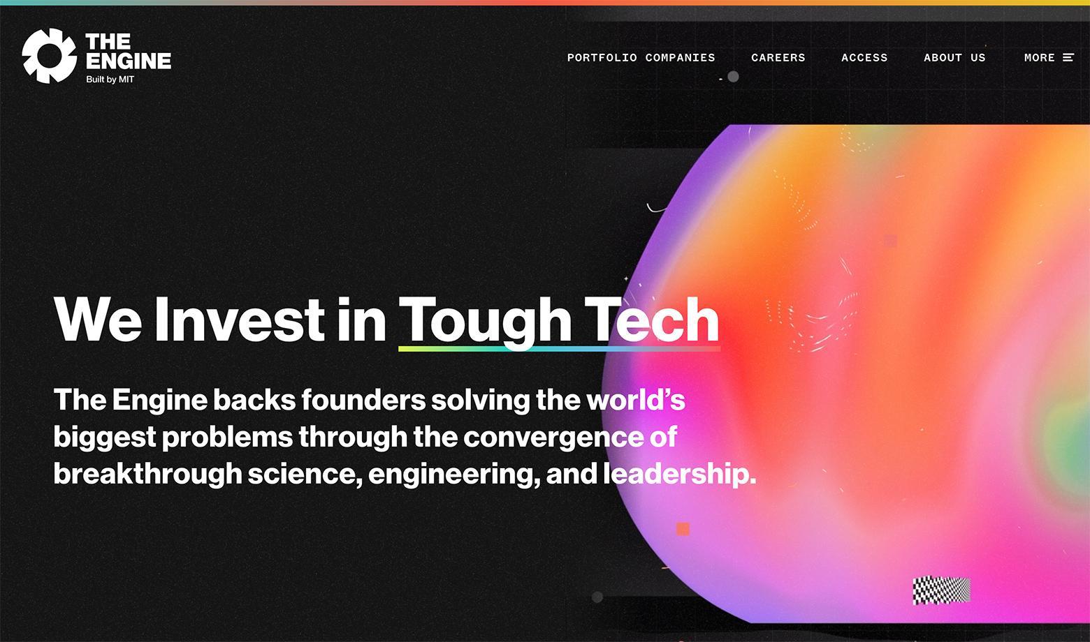 Website design standards: big typography in headers