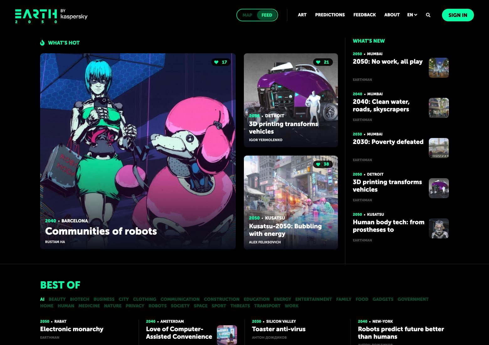 Magazine-style web layout