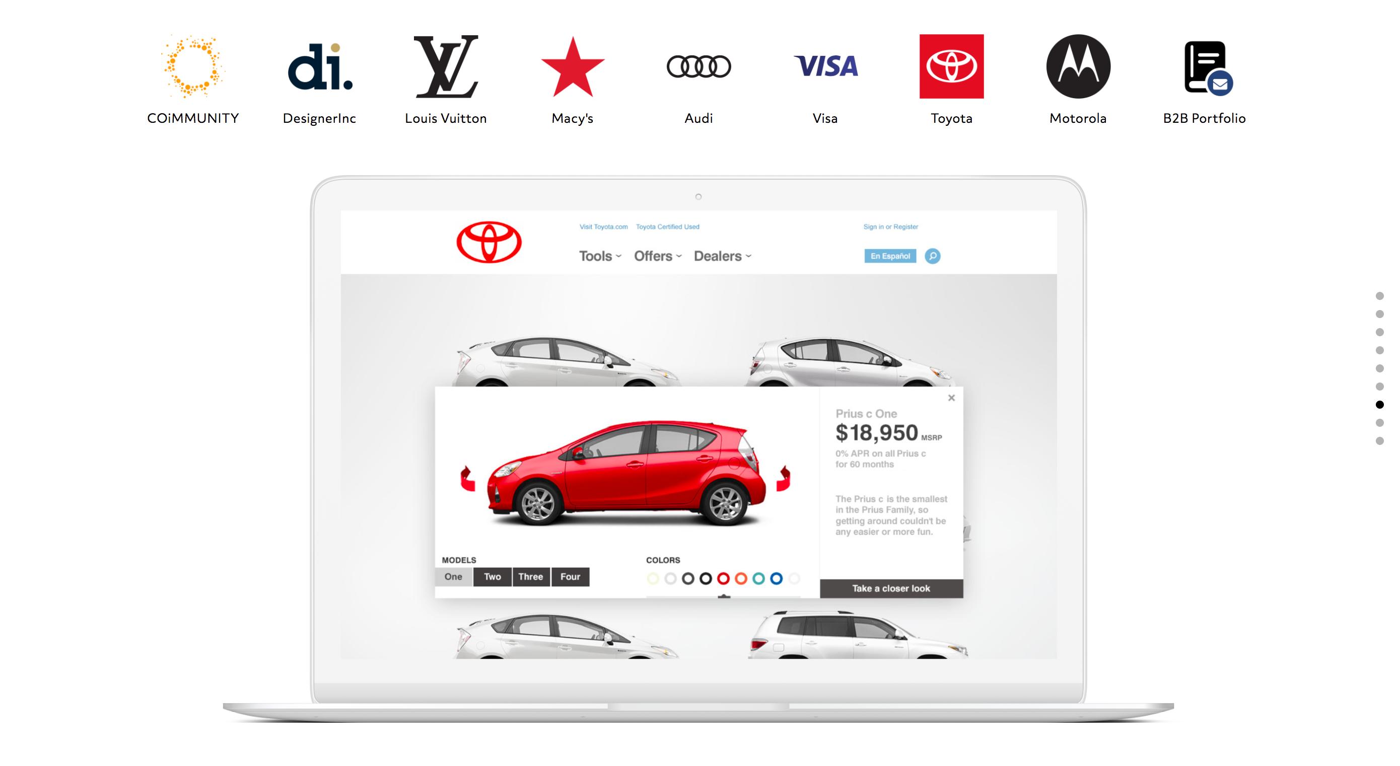 An example of a good design portfolio layout in a UX designer portfolio.