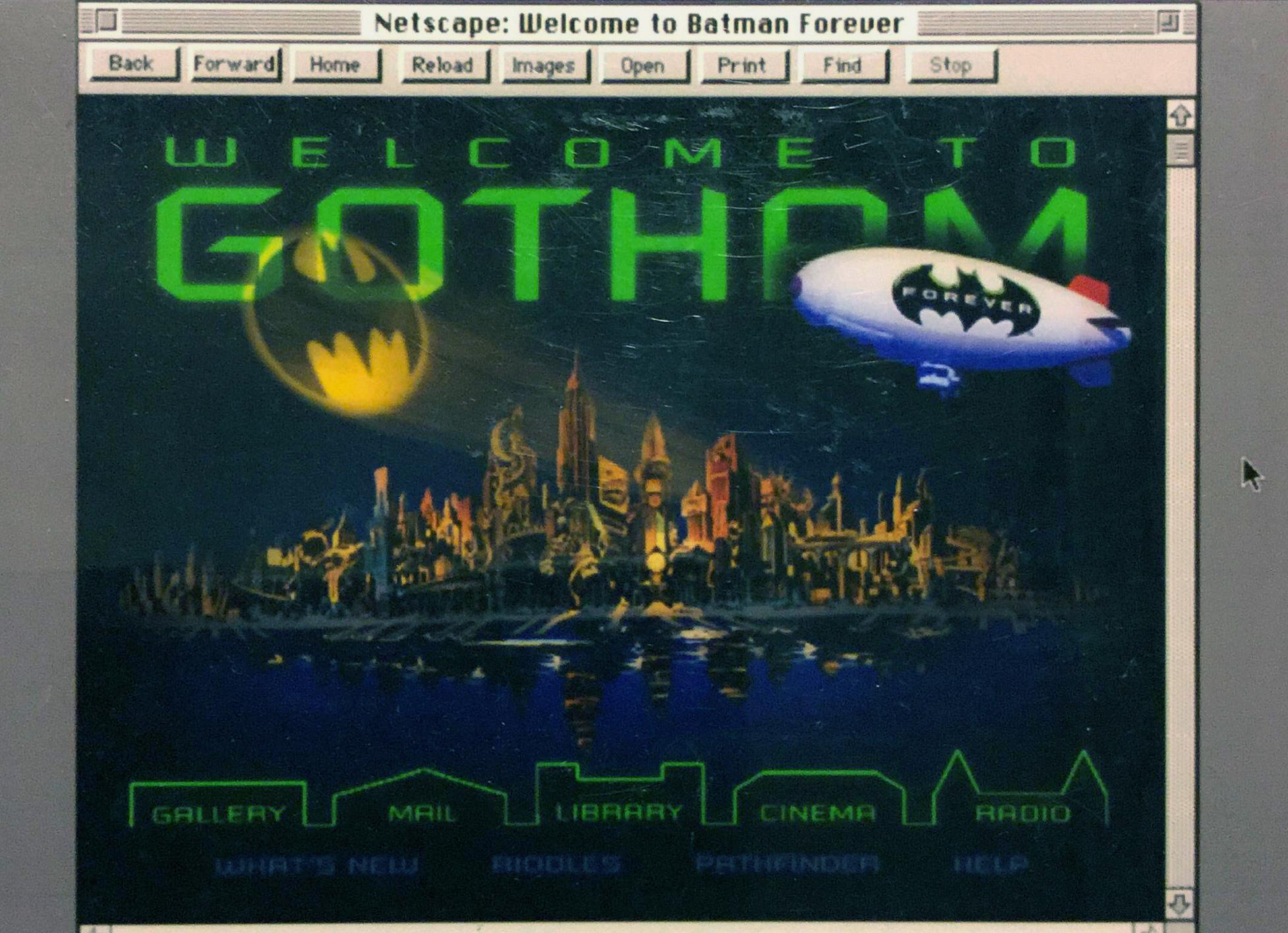 The first web animation was a GIF animation on a website for Batman Forever in 1995.