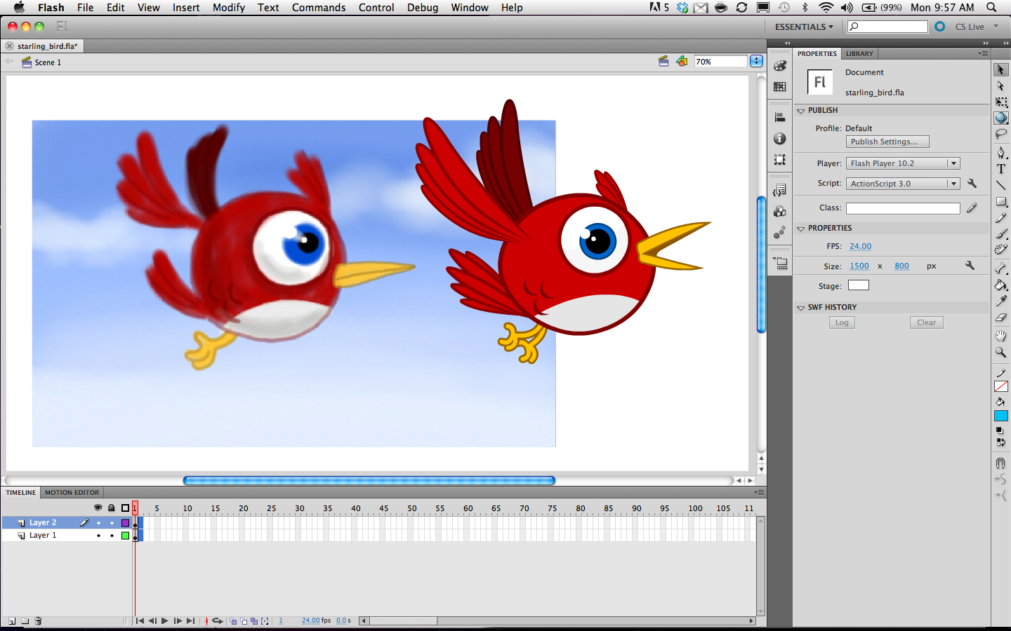 Web animation with Macromedia Flash in the 1990s.