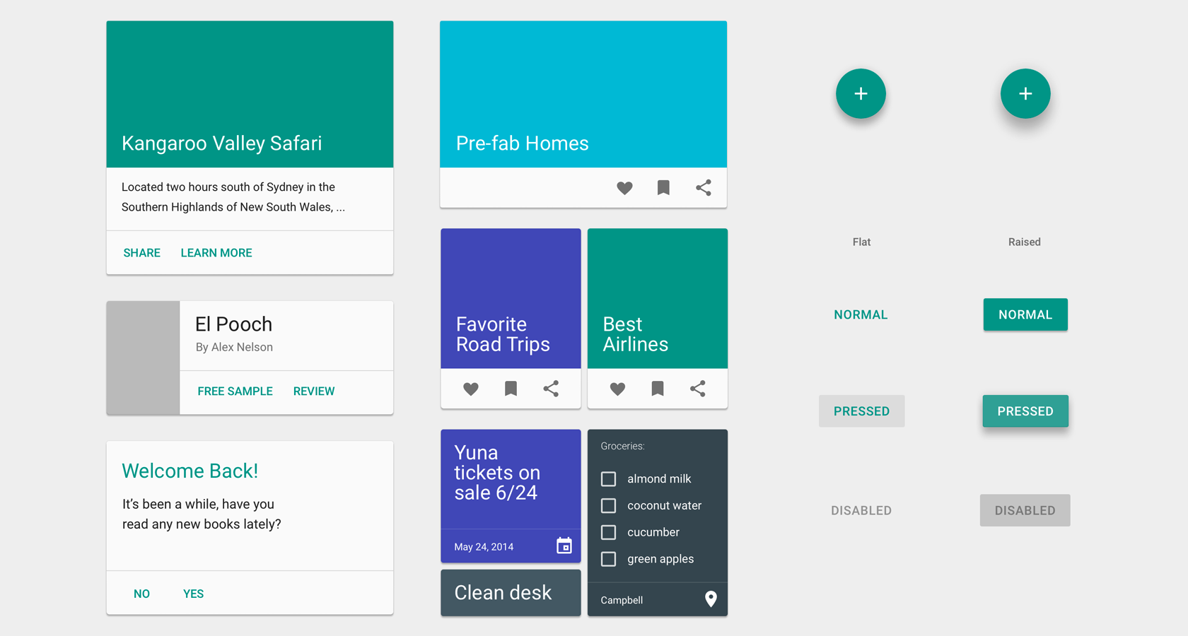 Google Material Design UI design framework