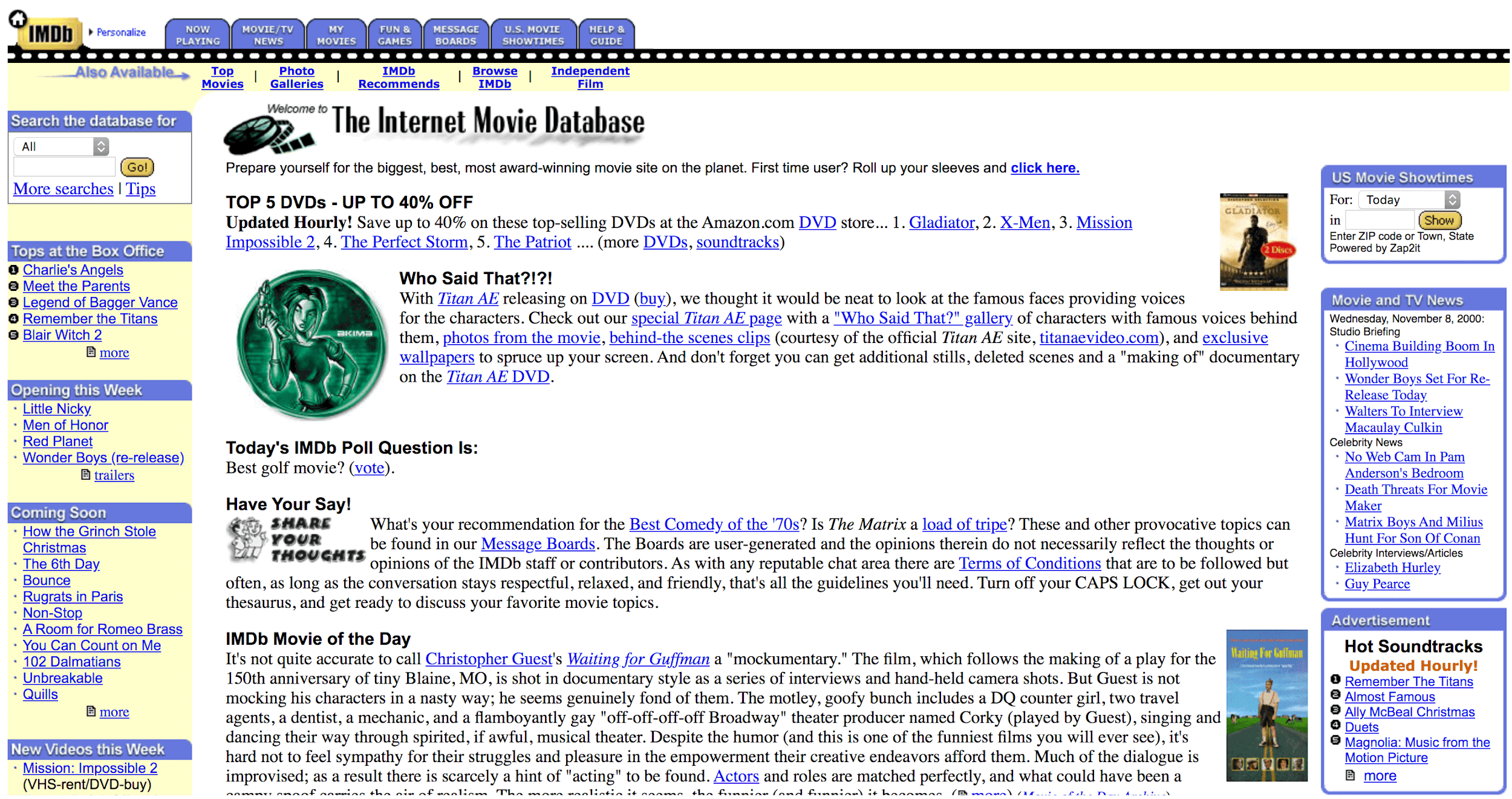 Without innovative design, the web would still look like this.