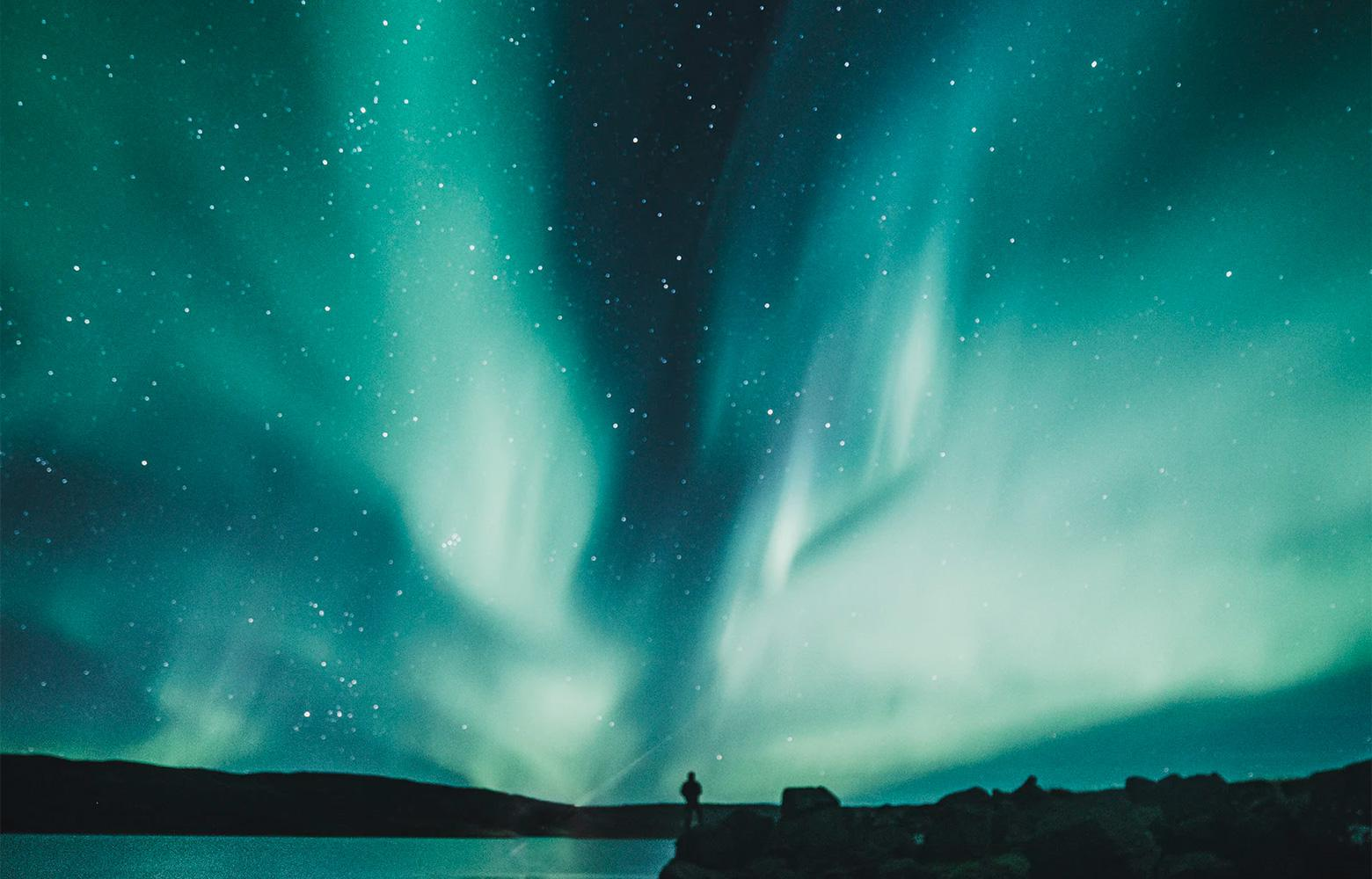 The northern lights can sometimes include the color of the year 2020