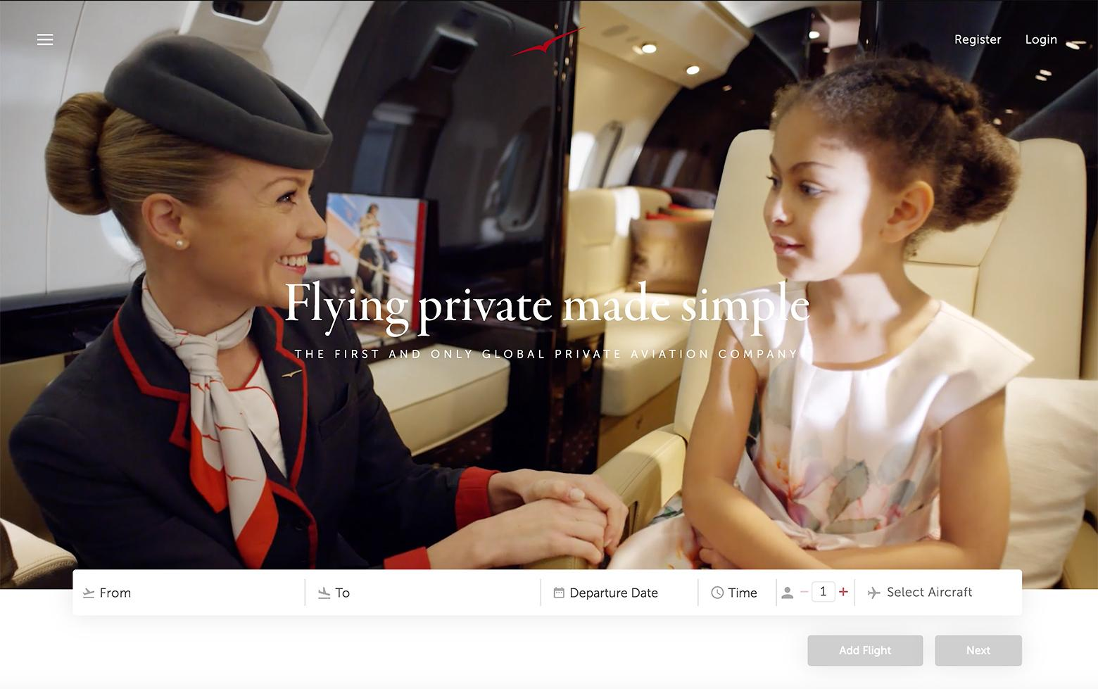 VistaJet is using landing page conversion best practices