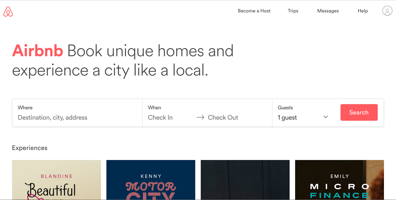 Airbnb high-converting landing page