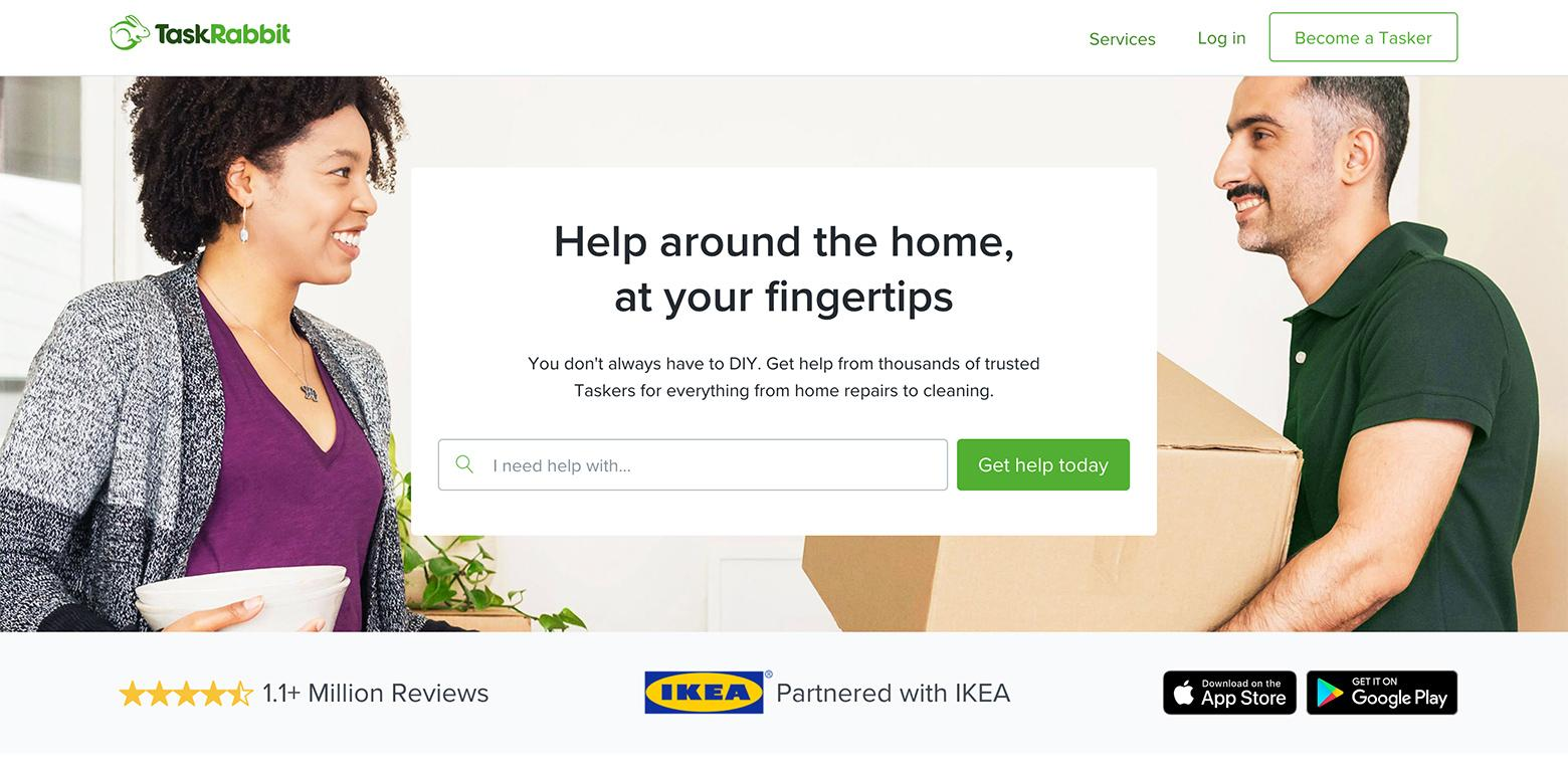 TaskRabbit has some of the best landing page conversion rates